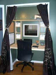 closet office ideas. Awesome Smartly Closet Turned Office Creative Design And Ideas Magnificent Dark Silk Curtains For Room Small Space
