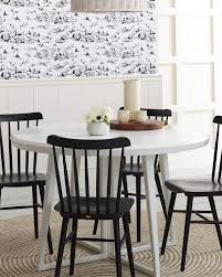 white and black dining room table. The Modern Kitchen Nook | Tucker Chair Via Serena \u0026 Lily White And Black Dining Room Table A
