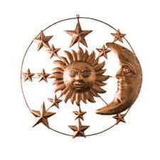 metal moon and stars wall art