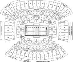 Cleveland Brown Stadium Seating Chart Cleveland Browns Stadium Cleveland Oh Seating Charts