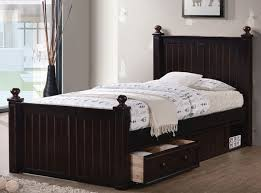 Dillon Extra Long Twin Wood Bead Board Bed