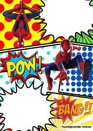 Spiderman Birthday Invitation Templates Free Free Free Printable Superhero Birthday Invitations