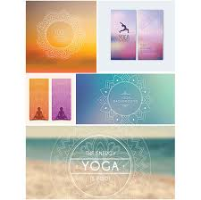 free banner backgrounds yoga banners set vector free download
