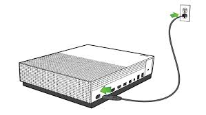 xbox one s setup setting up xbox one s power cable being plugged into the leftmost port on the back of the xbox one s