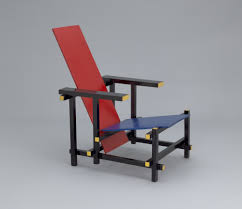 Gerrit Rietveld Red Blue Chair 19181923 MoMA