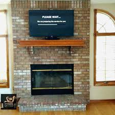 how to hide wires on brick fireplace mounted tv image collections rh norahbennett com
