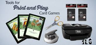 tools for print and play card with example items