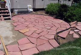a giant puzzle part two of our diy flagstone patio