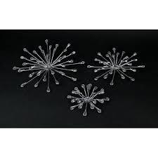 Living room refresh with jewel tones. Set Of 3 Silver Teardrop Starburst Rhinestone Jeweled Metal Wall Hanging Art Decorative Crystal Home Decor On Sale Overstock 31702595