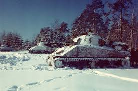 remembering the bulge key facts of a major wwii battle dodlive m4 sherman tanks line up in a snow covered field near st vith