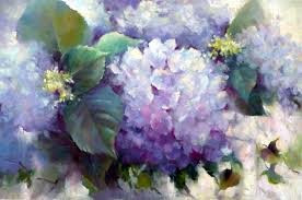 painting a day daily painters small oil painting hydrangea fl flowers