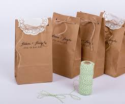 wedding paper gift bags personalised wedding favour paper bags oznames for