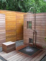 outdoor shower ideas how to choose the best material garden 4 20
