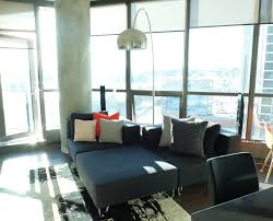 Modern Condo Living Room Design Modern Condo Living Room With Gray Low Profile Sectional And