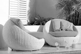 Wicker Rattan Living Room Furniture Rattan Garden Furniture With Black Cushions Waterproof Cushions