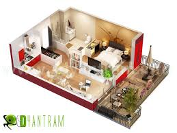 3d home floor plan residential visualization concept boston usa 3d