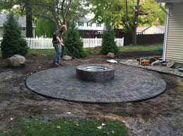 patio pavers with fire pit.  Patio Amazing Fire Pit On Patio Pavers Tittle Throughout With P
