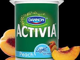 activia peach