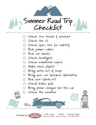 Summer Road Trip Checklist Unique Collision Repair Centers
