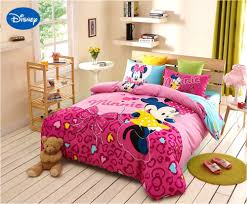 Minnie Mouse Comforter Set Full Size Disney Minnie Girls 100 Cotton ...