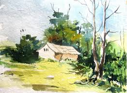 easy landscape painting with watercolor watercolor painting for beginners you