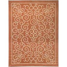compare scroll terracotta 7 ft 10 in x 9 ft 10 in indoor
