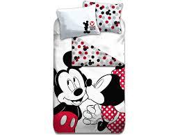disney mickey mouse kiss duvet cover single 140 x 200 cm multi