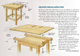 adjule table saw outfeed table