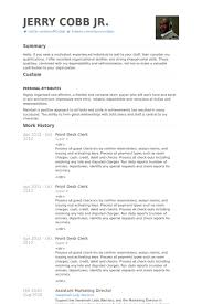 Front Desk Clerk Resume samples