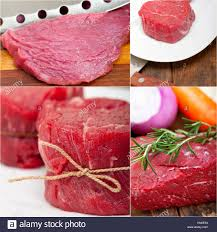 filet mignon raw. Plain Raw Collection Of Different Raw Beef Cuts Collage White Frame  Stock Image To Filet Mignon Raw R