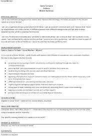 Social Worker Resume Example Mesmerizing Social Worker Resume Sample Social Work Resume Samples Social Work