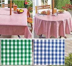 gingham umbrella hole zipper patio tablecloth 70 round or 60x90 round patio tablecloth with umbrella hole