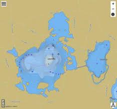 Burns Lake Lake Placid Fishing Map