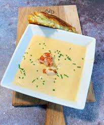 Lobster Bisque with Brie Grilled Cheese ...