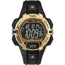 timex wristwatches timex ironman rugged 30 full size gold black sport watch tw5m06300