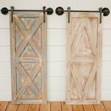 rustic barn door wall decor set of 2