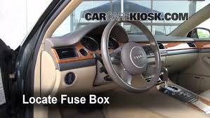 interior fuse box location audi a quattro audi interior fuse box location 1997 2003 audi a8 quattro 2001 audi a8 quattro l 4 2l v8