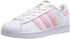 White And Light Pink Superstars Adidas Originals Boys Superstars Running Shoe White Light Pink Gold 6 Medium Us Little Kid
