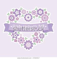 Mother S Day Menu Template Pretty Greeting Card Menu Template Mothers Stock Vector