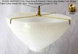 No Slide Shade Gripper Prevents Fabric Shade Sliding Lamp Shade Pro