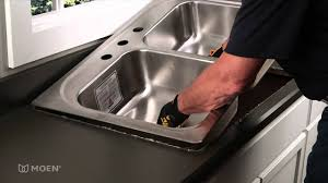 Howto Install A Stainless Steel DropIn Sink Moen Installation - Installing a kitchen sink