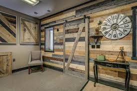 accent wall in a box modern rustic