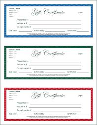 printable gift certificate screenshot