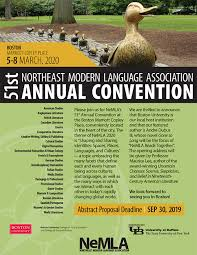 Mla Guidelines 2020 Call For 2020 Abstract Proposals Northeast Modern Language
