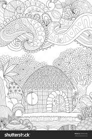 Zendoodle Design Of Small Hut In