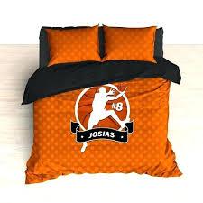 basketball bedding sets personalized basketball bedding orange basketball dots custom duvet or comforter sets for basketball