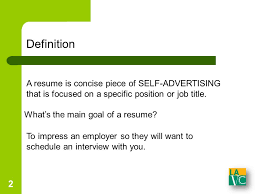 Definition Of Resume For A Job Lavc Writing Center Resumes And Cover Letters 2 Definition