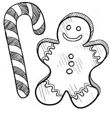 Candy Cane Coloring Pages And Gingerbread Man Coloringstar