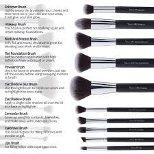 i can tell you that these are soft brushes that are made well they are good for creams or powders they are made of highest quality synthetic hair i