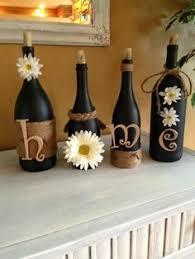 Wine Bottle Decorations Handmade Wine Bottle Craft Diy Home Decor Pinterest Wine Bottle 1